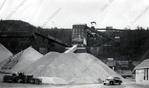 dundas museum archives canada crushed stone co stockpile 1946